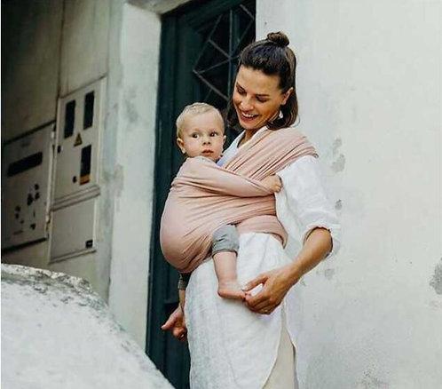 mama y bebe con fular elastico boba wrap serenity bloom