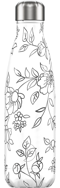 BOTELLA CHILLY'S LINE ART FLORES