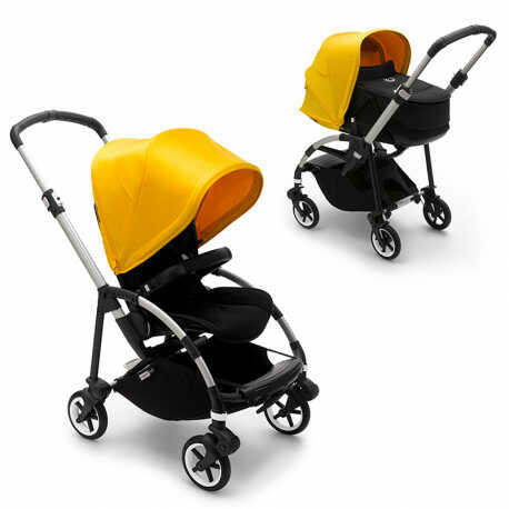 cochecito bebe bugaboo bee6 en color amarillo limon chasis aluminio