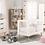 conjunto de habitación completa Sofie, se puede ver cuna, cómoda, armario