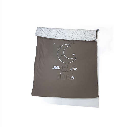 FUNDA NORDICA + RELLENO CUNA SWEET NIGHT LINO/ROSA - N90
