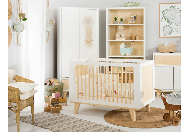 mobiliario bebé, estilo nordico bebé, habitación nórdica, tipi, montessori