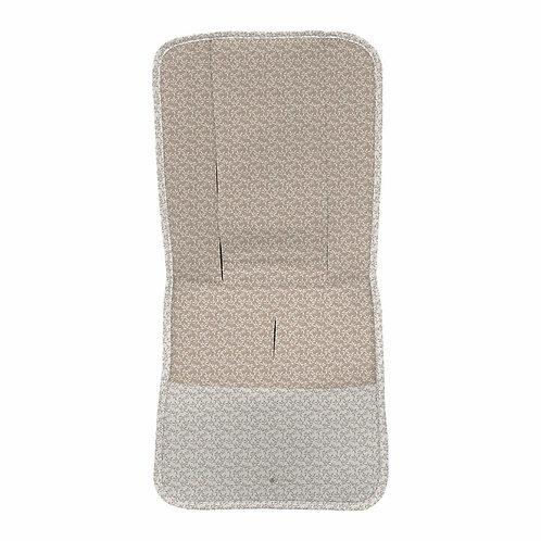colchoneta de silla recta coleccion Liberty hojas tostado de la marca dydados