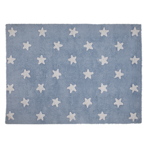 Alfombra Lorena Canals azul estrellas blancas