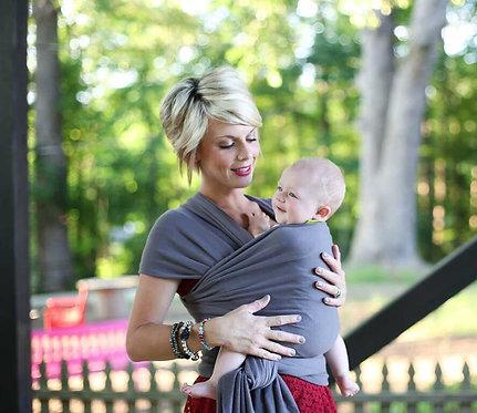 fular elástico Boba Wrap en algodón orgánico Dark Grey para portear a tu bebé
