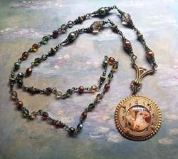 Alphonse Mucha Autumn Necklace