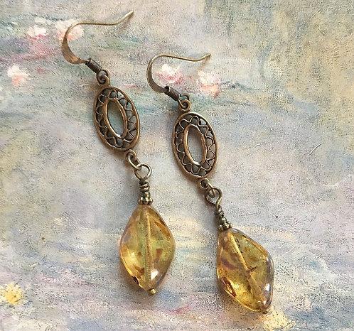 Light Topaz Dangle Earrings
