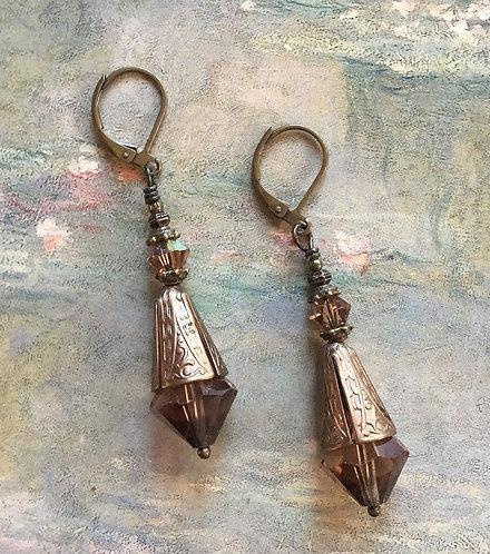 Topaz Art Nouveau Earrings