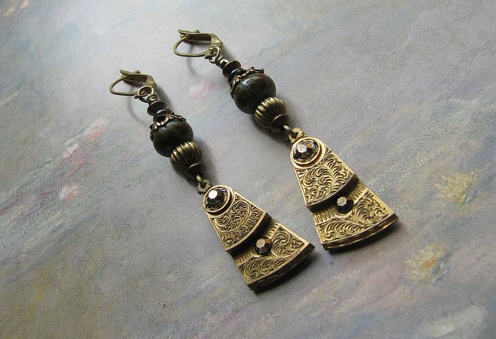 Steampunk Neo Victorian Earrings