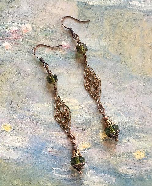 Vintage Brass Dangle Earrings