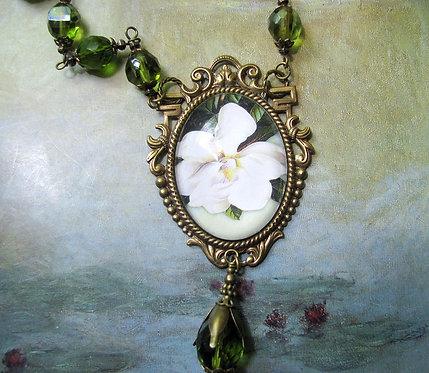 Magnolia Flower Necklace