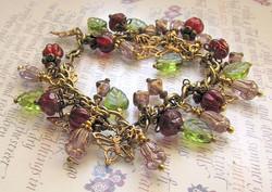 Summer Garden Beaded Charm Bracelet