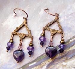 Vintage Triangle Drop Earrings