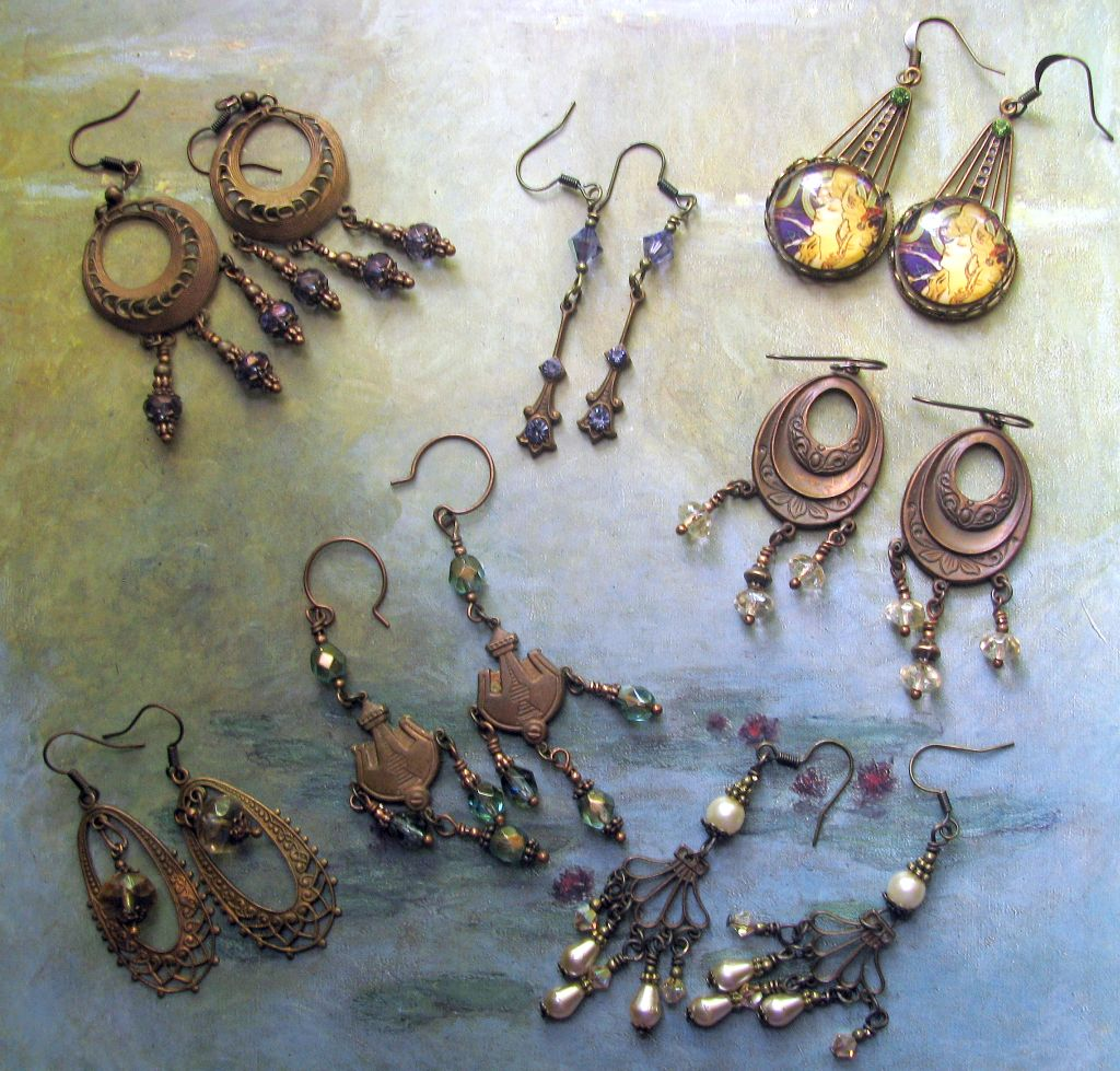 Selection of Earrings Past