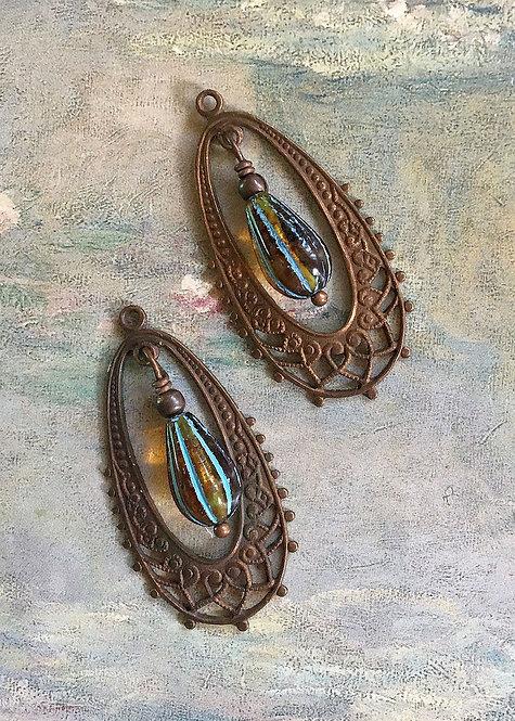 Vintage Art Nouveau Earrings