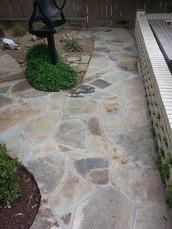 Oklahoma Flagstone sidewalk