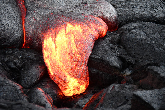 Active Lava Flowing