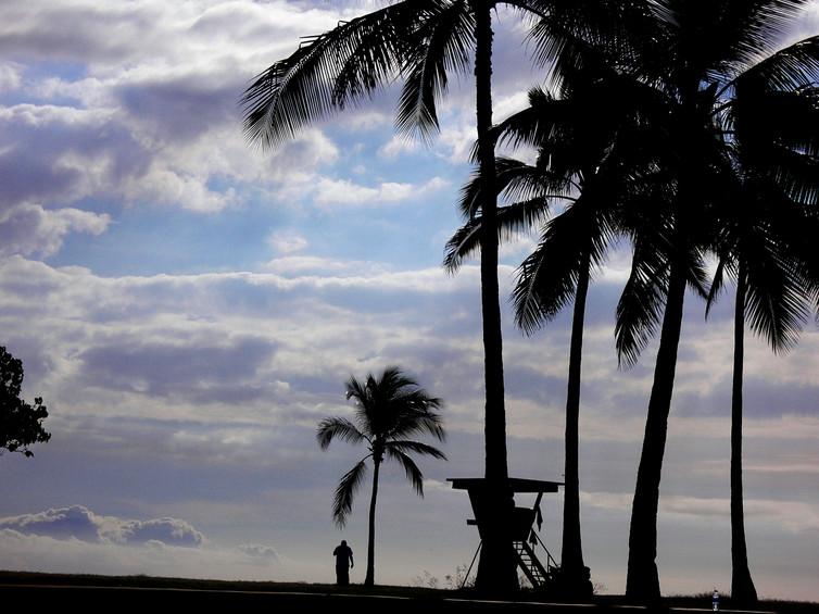 Sunset at West Coast of Oahu