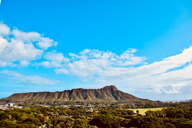Diamond Head in Daytime