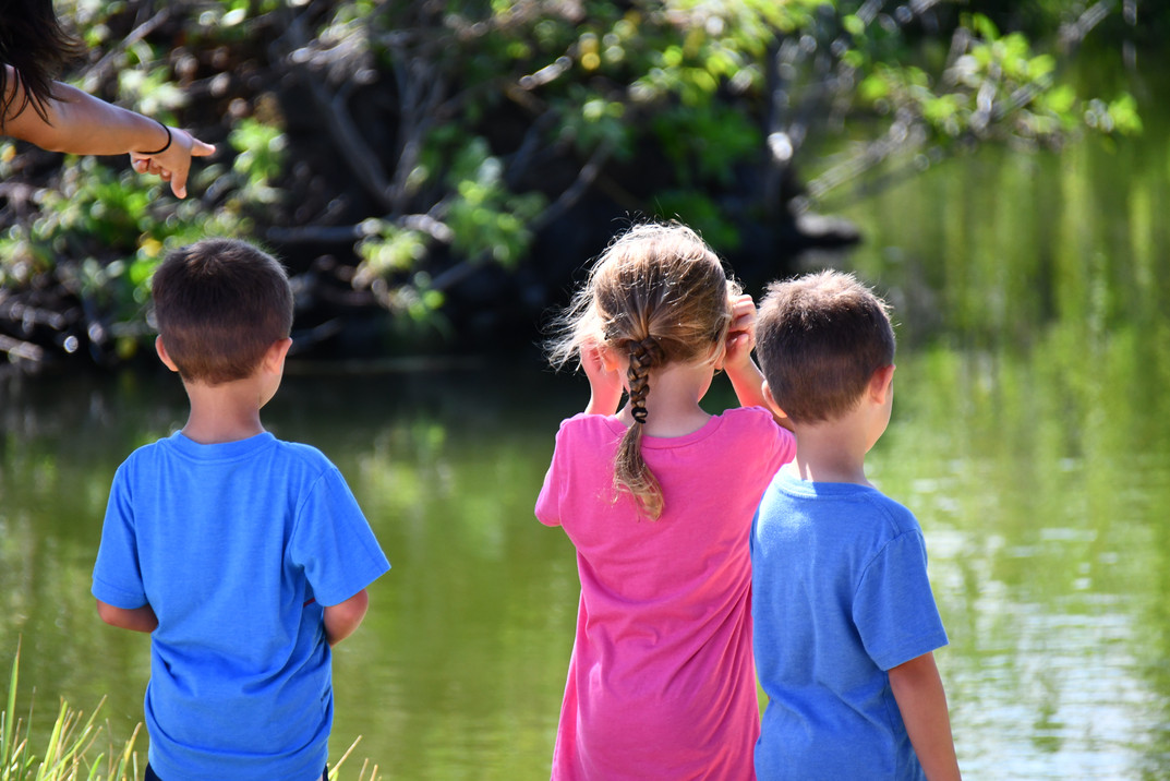 Kids at Ancient Fishpond