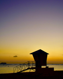 Lifeguard Tower in Sunset