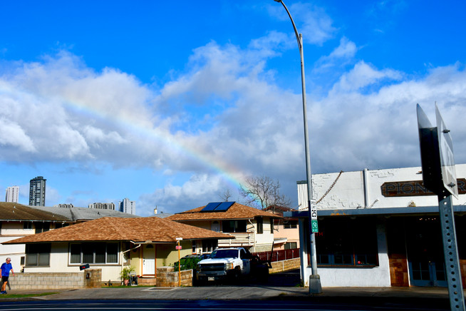 """Pioneer Saloon"" with Rainbow"