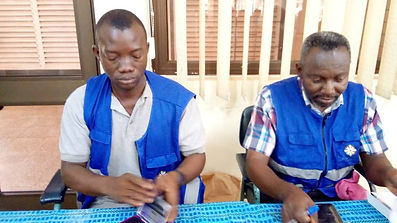 Officers from the Electoral Commission o