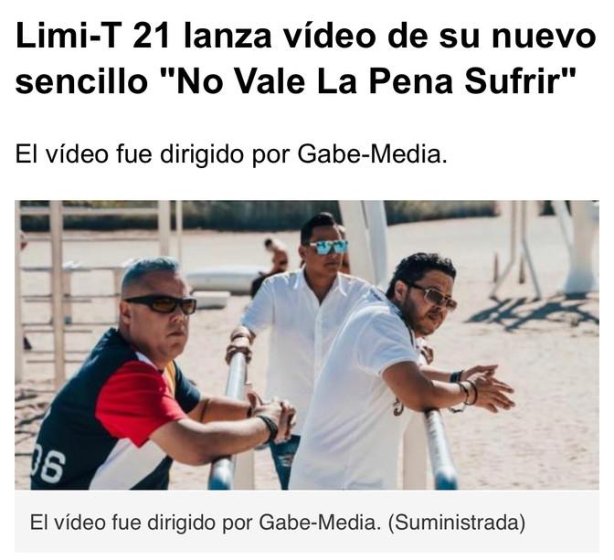 """Limi-T 21 lanza vídeo de su nuevo sencillo """"No Vale La Pena Sufrir"""""""