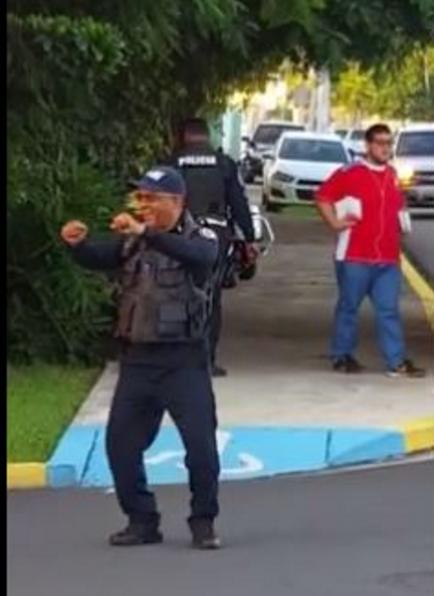 Viral video de policía bailando Alegría Pa'l Pueblo