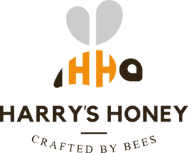 Logo for Harrys Honey with honeybee.png