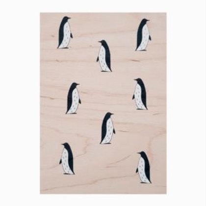 Carte Bois Pingouins