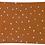 Thumbnail: Coussin Neige Rouille // Coton Biologique