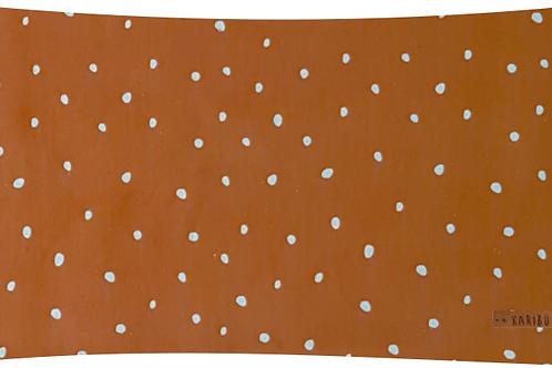 Coussin Neige Rouille // Coton Biologique