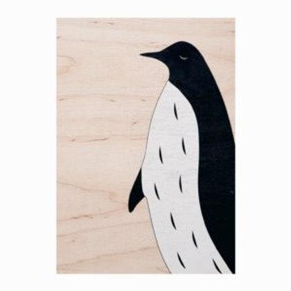 Carte Bois Pingouin