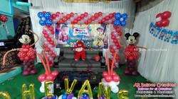 Mickey Mouse Theme First Birthday Party | Dhevansh Bhargav | Balloon Decoration at Gonupalli, Rapur