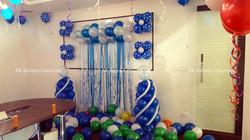 Penver MD Birthday Blue Balloon Wall Dec