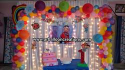 CoComelon Theme    RISHVIK First Birthday    Balloon Decoration at Gudur, Nellore..