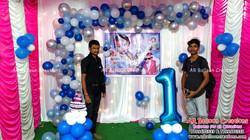 Organic Theme First Birthday Balloon Decoration