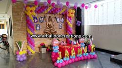 Photo Frame Theme First Birthday Balloon Decoration