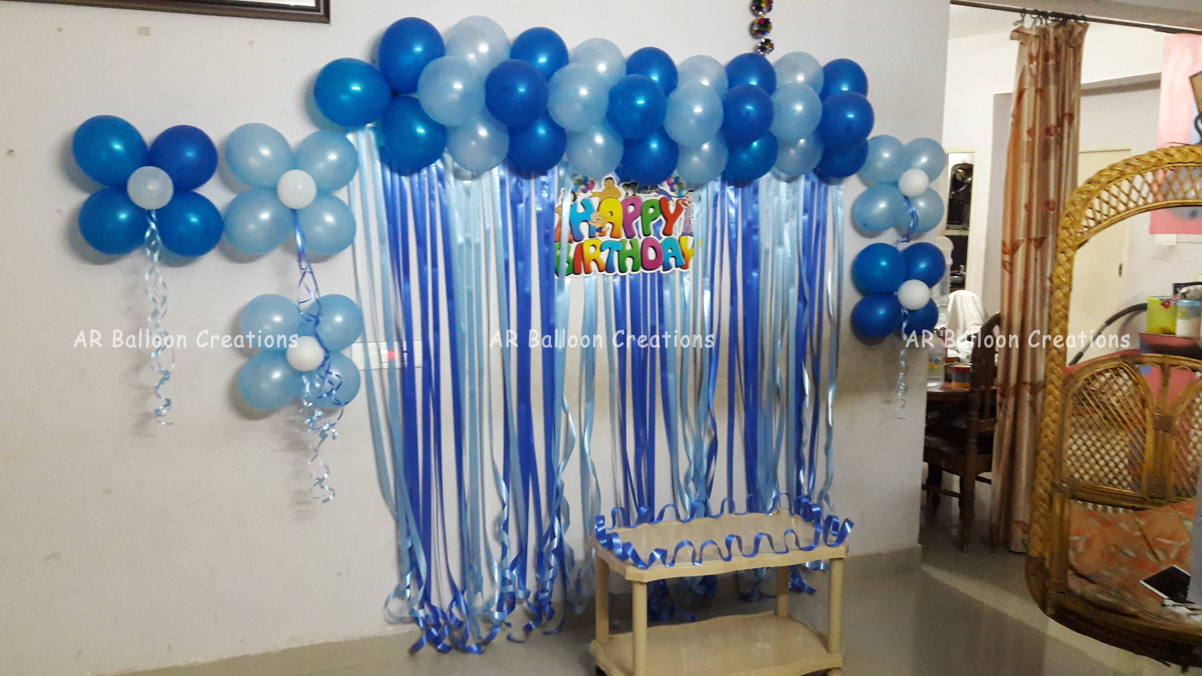 Blue Balloon Wall Decoration
