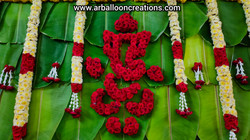 Banana Leaves Decoration for Engagement