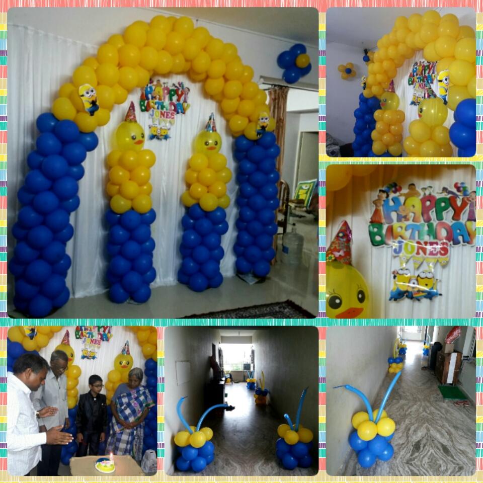Minion Theme Brirthday Decoration