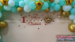 Organic Theme First Birthday Party | Sanvi | Pastel Balloons | Balloon Decoration at Indira Nagar