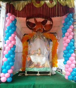 Vinayaka Chawathi Stage Decoration