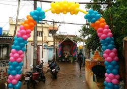 Vinayaka Chawathi Entranc Decoration