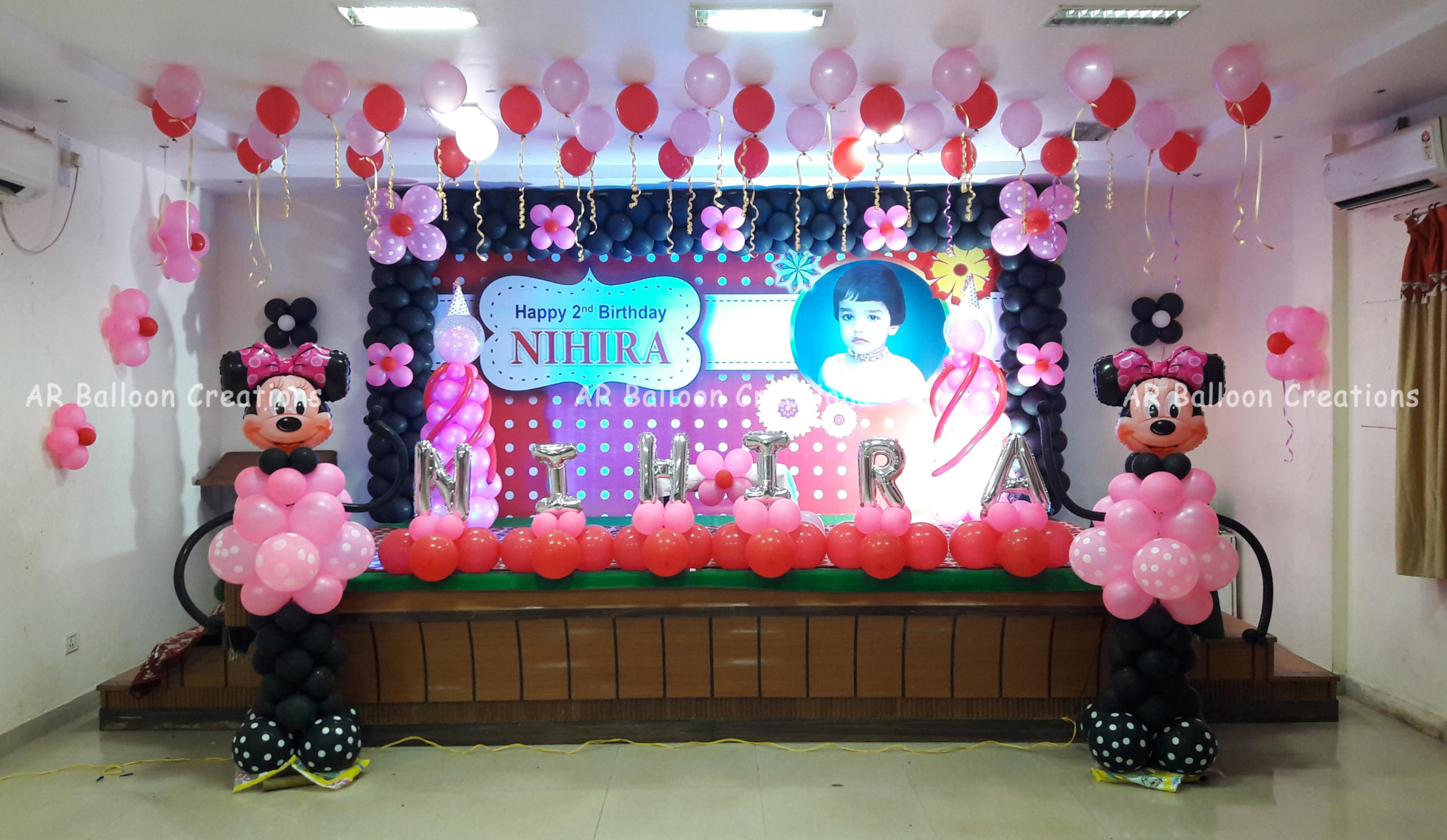 Nihira Birthday Balloon Decoration _ Hot