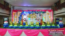 First Birthday Organic Theme | Vaishnavi | Balloon Decoration at SKS Kalyana Mandapam, Sullurpeta