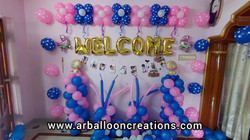 Welcome Baby Theme Balloon Decoration