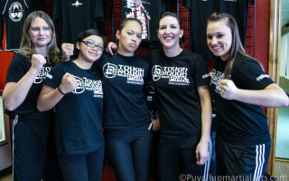 Krav maga girls after class