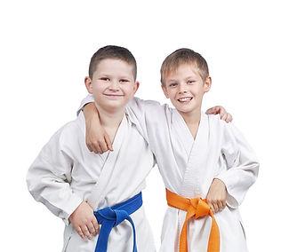 martial arts childen friendship in class
